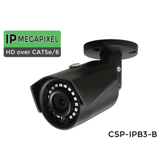 Picture Of IP Bullet Security Camera with 3 Megapixels and 100 Foot Night Vision