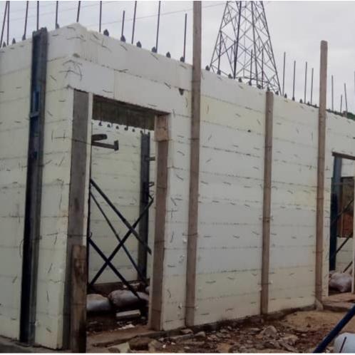تصویر اجرای اسکلت و ساختمان با سیستم قالب ICF